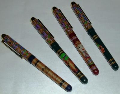 Bolígrafo egípcio dorado + color