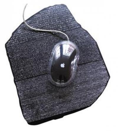 Mousemat - alfombrilla PC de la Piedra de Rosetta