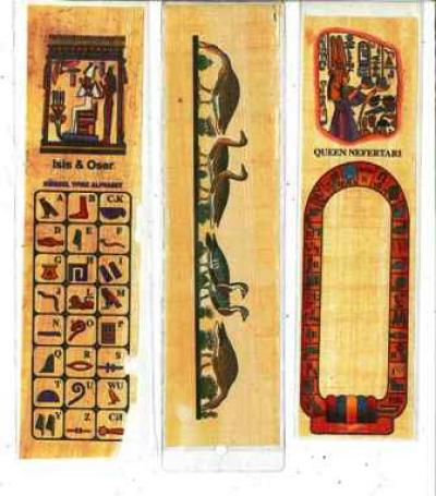 Punto libro en papiro ilustrado.