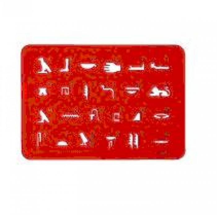 Plantilla jeroglíficos roja